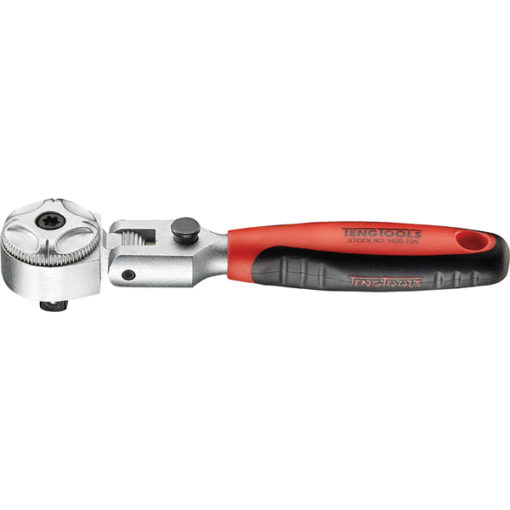 Teng 1/2in Dr. Flex-Head Stubby Ratchet Handle 72T