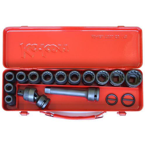 "14245M Impact Socket Set 18pc 1/2""Dr 10-27mm"