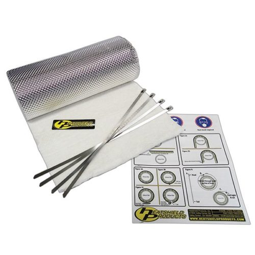 HEATSHIELD - HEATSHIELD ARMOUR HOT PIPE KIT 1/2IN X 1FT X 3FT WITH TIES