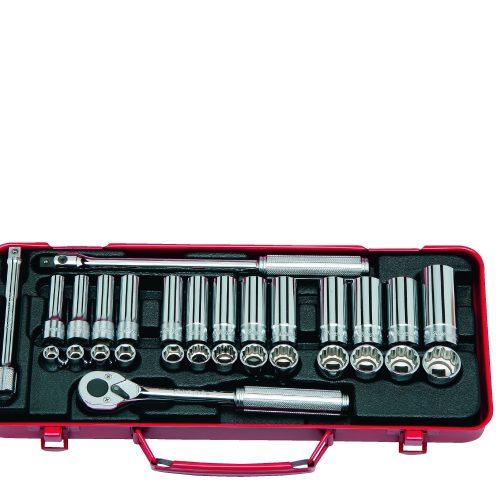 """3277 Std & Deep Socket Set 6pt12pt 29pc 3/8""""Dr 8-21mm"""