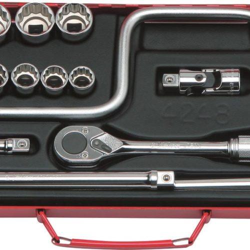 """4248M Socket Set 12pt 24pc 1/2""""Dr 10-32mm"""