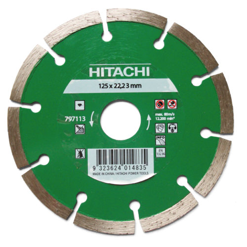 Hitachi 125mm Segmented Diamond Wheel
