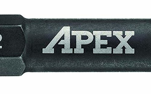 """APEX Industrial 2"""" Phillips Power Drive PH2 - 5 Pack"""
