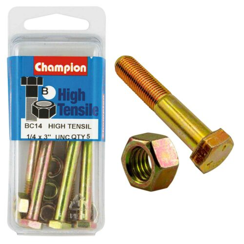 Champion 3in x 1/4in Bolt And Nut (B) - GR5