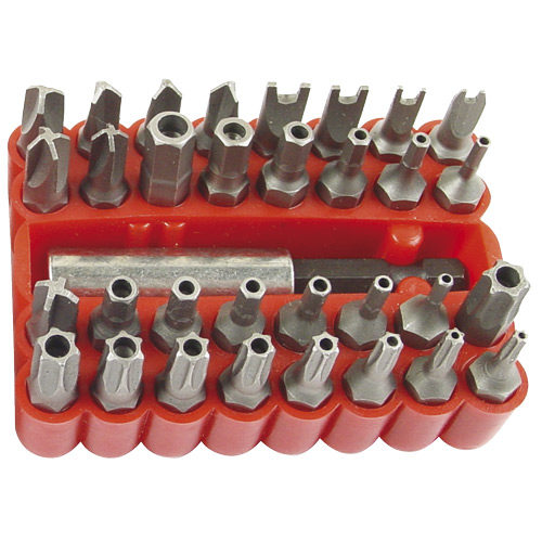 Screwdriver Bit Set 33pc Tamper Proof (Torx  Hex Tri Snake Eye Torq-Set)
