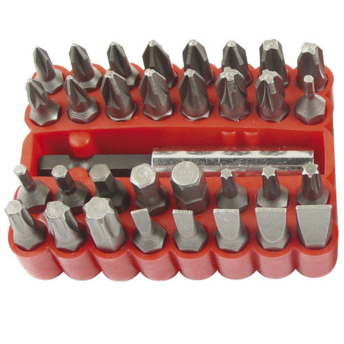 Screwdriver Bit Set 33pc Standard (Torx  Hex Flat Phillips Pozi)