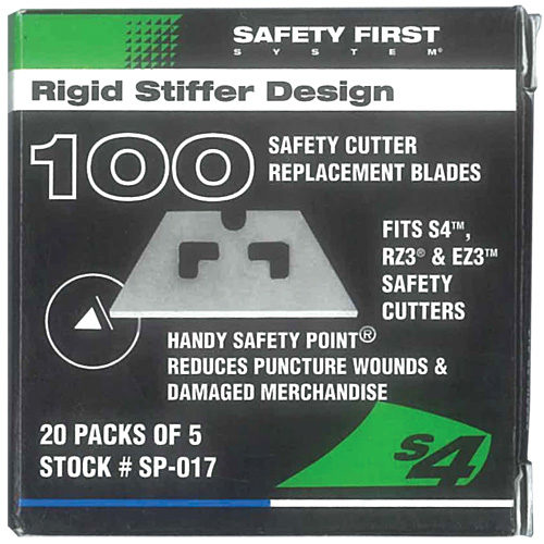 SP-017 Safety Blade Box of 100 (for S4 & S7 Safety Cutters)