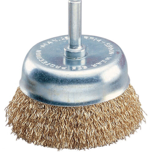 Cup Brush 75mm x 0.3mm - 6mm Shank - Coated Steel (BRUC-9268)