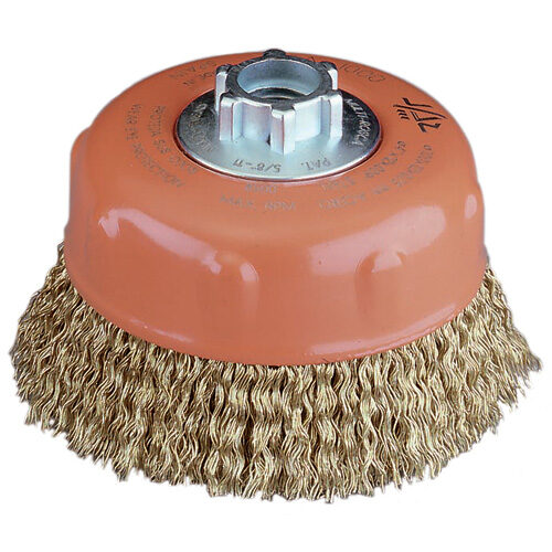 Cup Brush High Performance 100mm x 30mm x 0.23mm - M14 x 2 - Cable Crimped Wire (BRUC-100H)