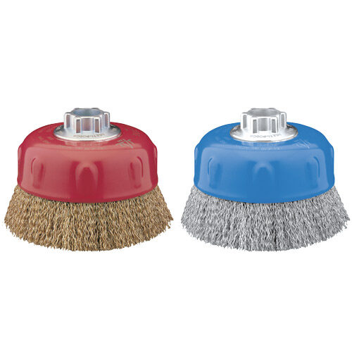 Cup Brush Crimped 80mm x 30mm x 0.3mm - M14 x 2 - Coated Steel (BRUC-0800)