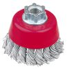 Cup Brush High Speed Twist Knot 65mm x 20mm - M14 x 2 - Laminated Wire (BRUH-6514L)