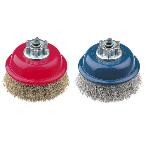 Cup Brush High Speed 75mm x 22mm x 0.3mm - M10 Multi-Fit Thread - Coated Steel (BRUH-7510)