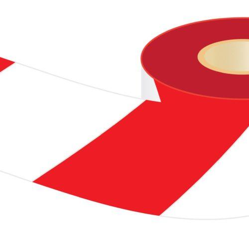 Crescent Lufkin Barricade Tape - Red & White - 100m x 75mm