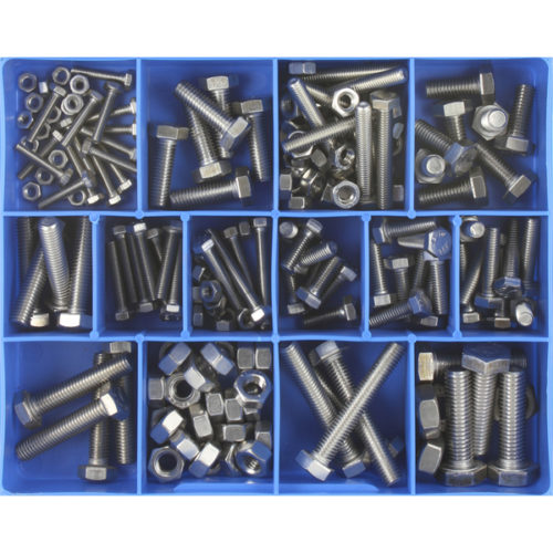 174PC STAINLESS METRIC (ISO) SET SCREWS & NUTS