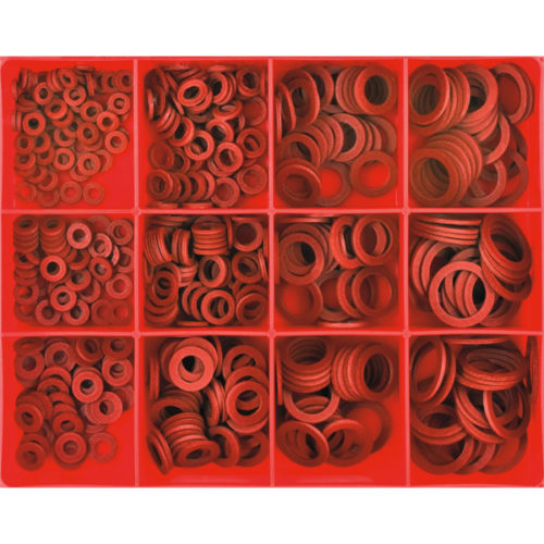 405PC 1/16IN RED FIBRE WASHER ASSORTMENT