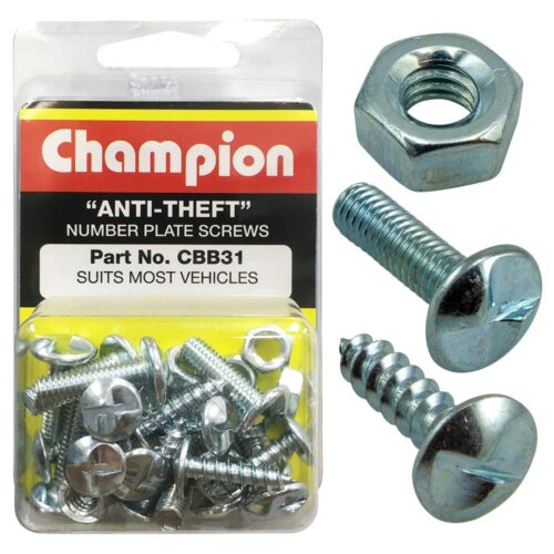 Champion 30Pc Anti-Theft Number Plate Screws