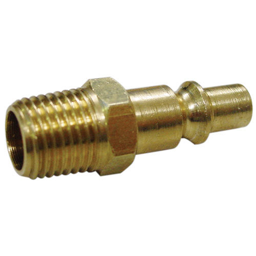 "A6559 Male Connector Brass 1/4"" BSP (Aro Type) 2pc Carded"