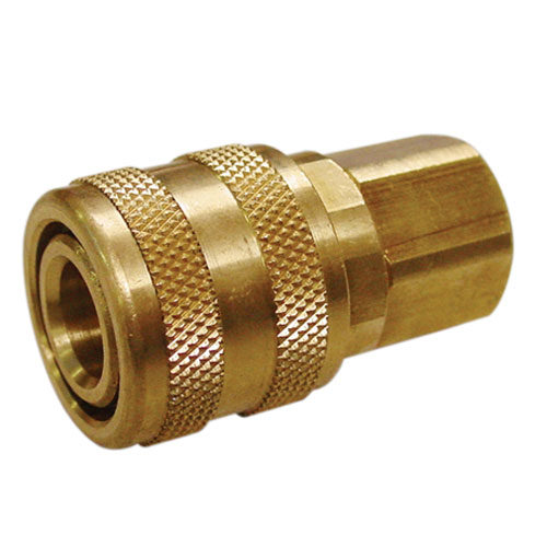 "A6550 Female Coupler Brass 1/4"" BSP (Aro Type) Carded"
