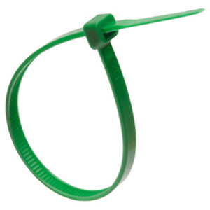 ISL 200 x 4.8mm Nylon Cable Tie - Green - 100pk