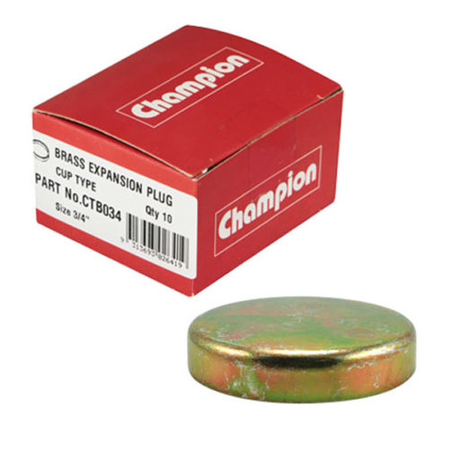 Champion 3/4in Brass Cup Plug - 10pk