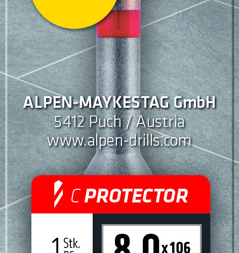Alpen Series 303 C Protector Drill and 189 Masonary Drill ATM 2 Set 6mm