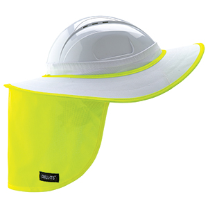CHILL-ITS® 6660 HARD HAT BRIM W/SHADE - WHITE