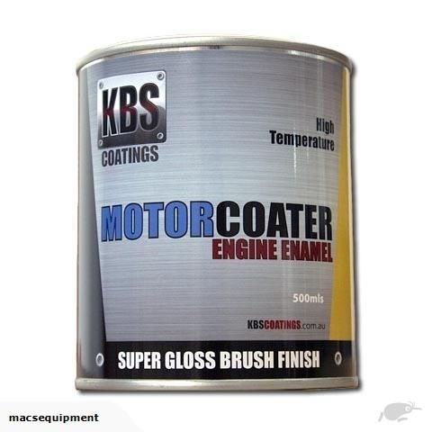 KBS - ENGINE ENAMEL 500ML MOTORCOATER FIRE RED
