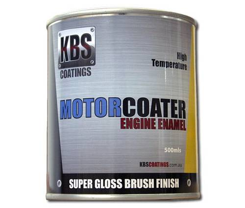 KBS - ENGINE ENAMEL 500ML MOTORCOATER MG MAROON