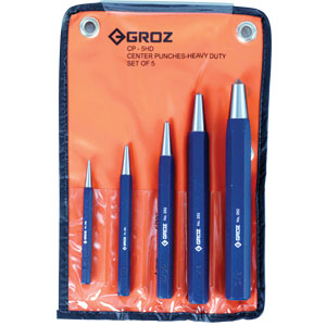 Groz 5pc H/Duty Centre Punch Set (2.0mm To 10.0mm)