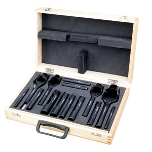 Groz 14pc Hollow & Arch Hole Punch Set
