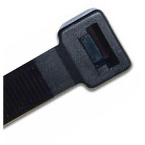 ISL 300 x 7.6mm UV Nylon Cable Tie - Blk. - 100pk