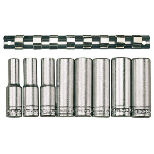 Teng 8pc 1/2in Dr. Deep Socket Set 13-24mm 12Pnt