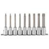 Teng 9pc 1/2in Dr. Long Ribe Bit Socket Set - M4-M13