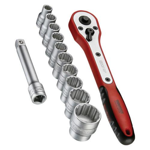 Teng 12pc 1/2in Dr. Socket Set w/Case 8-24mm