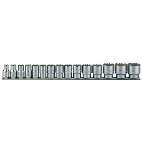 Teng 15pc 1/2in Dr. Metric Socket Set 10-32mm 12Pnt