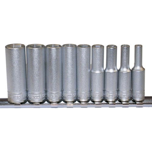 Teng 9pc 1/4in Dr. Metric Deep Socket Set 4-13mm 6Pnt