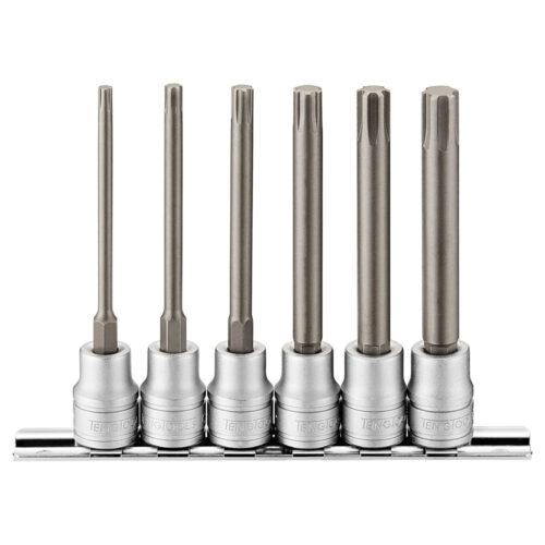 Teng 6pc 3/8in Dr. Long Ribe Bit Socket Set - M4-M10