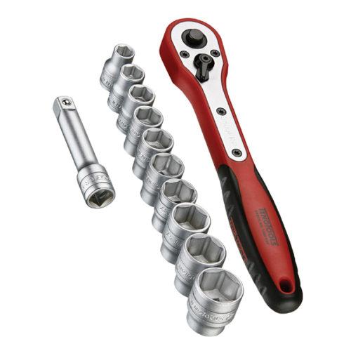 Teng 12pc 3/8in Dr. Metric Socket Set w/Case 8-19mm