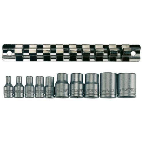 Teng 10pc 1/4in & 3/8in Dr. TX-E Socket Set E4-E18