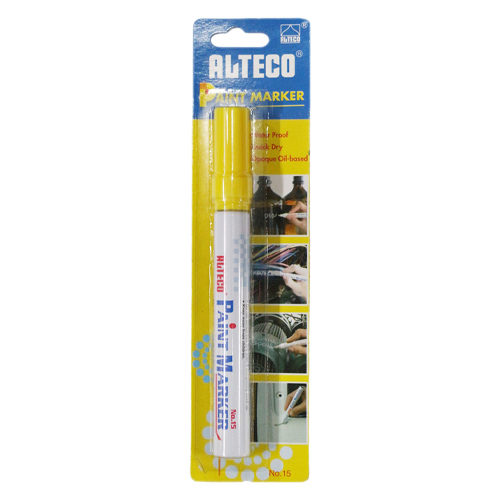 Paint Marker Yellow Blister Pack  (Xylene Based)