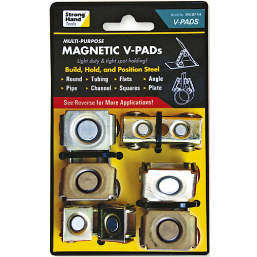 MVDF44 Adjustable Magnetic V Pads 8kg Pull Force 4pc
