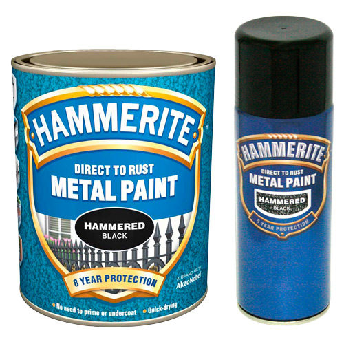 Hammerite Hammered 250ml Black