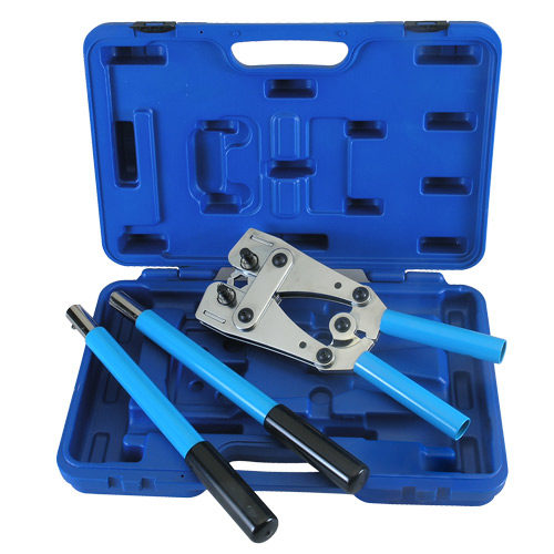 """HT-T51A Foldable Crimping Tool in Blow Mold Case 26"""" (6-120 Hex Size)"""