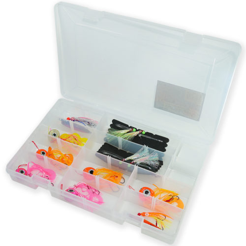 TacklePro 10pc Fishing Lure Assortement w/ Tackle Box