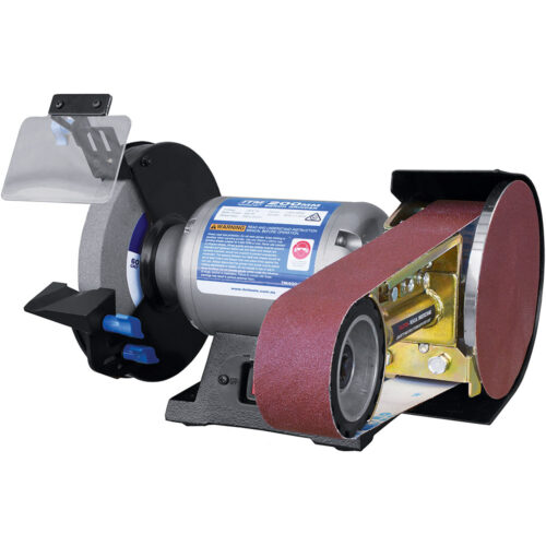 Multitool 200mm Bench Grinder W/belt & Disc Grinding Attach