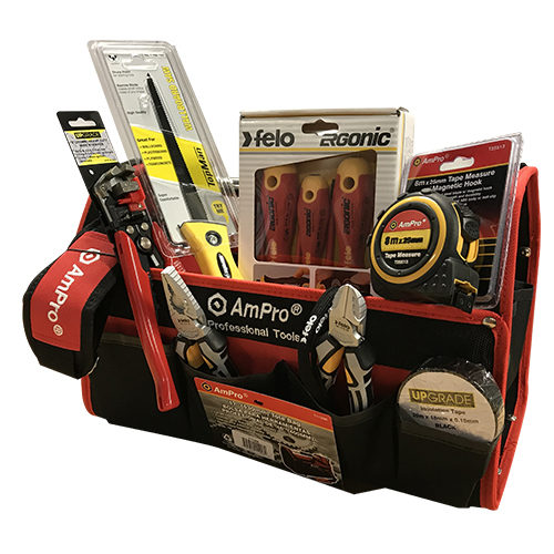 Professional Electricians Tool Kit W/ Tote Bag 15pce