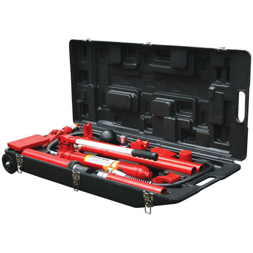 T71002L Hydraulic Portable Power Kit 10 Ton In Blow Mould Case with Wheels