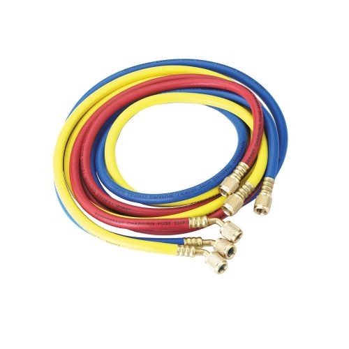 """JAVAC JV-HS01436 72 inch R134A Hoses with 1/4"""" fittings for R134A/1234YF"""