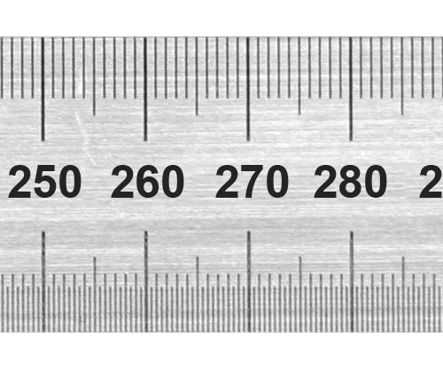 1850 Stainless Steel Rule 600mm Metric Only / Conversion Table