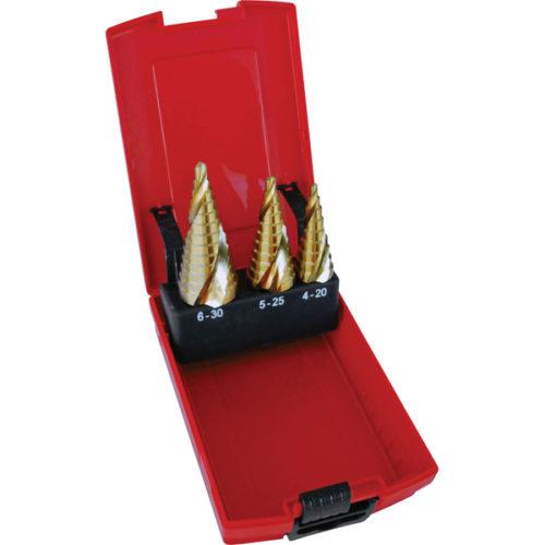 Holemaker 3pc Spiral Flute Step Drill Set-4-30mm
